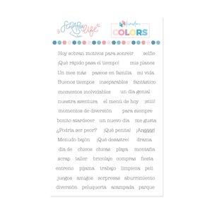 Sello Scrap Your Life Frases para PL