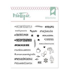 Sello Mintopía Hashtags de invierno