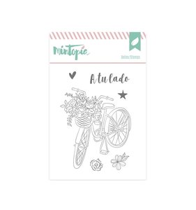 Sello Bici con flores