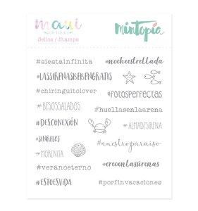 Sello Mintopía Hashtags de sirena