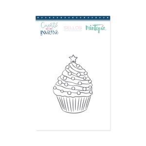 Sello Cupcake Navideño
