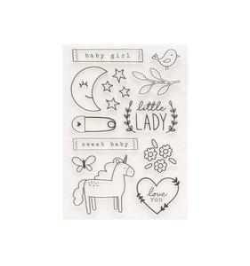 Set de sellos acrílicos Peek-A-Boo You Girl