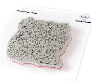 Sello Pinkfresh Background Blushing Floral