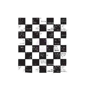 Sellos para fondos Checkered