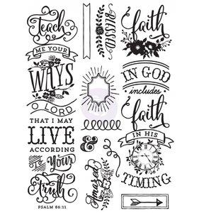 Sello Cling Prima Faith Quotes