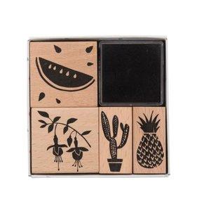 Set sellos madera Tropical