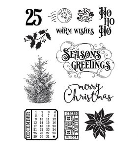 Sellos Simple Vintage Country Christmas