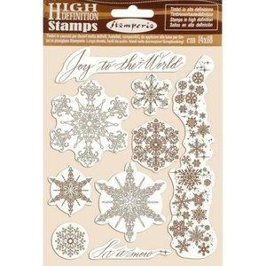 Sellos tipo Cling Stampería Winter Tales Snowflakes