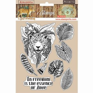Sellos tipo Cling Stampería Amazonia Jaguar