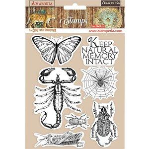 Sellos tipo Cling Stampería Amazonia Mariposa
