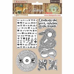 Sellos tipo Cling Stampería Amazonia Serpiente
