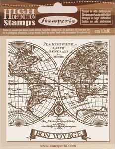 Sellos tipo Cling 10x10 cm Stampería Voyages Fantastiques