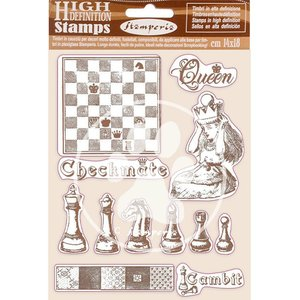 Sellos tipo Cling Stampería Alice Checkmate