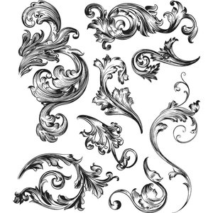 Sellos Cling Tim Holtz Scrollwork