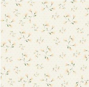 Textura encuadernación Alas de Hada Flor Crema