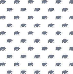 "Vellum estampado 12x12"" Woodland Bears"