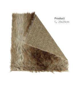Tela piel sintética de pelo Woodland 29x29 cm