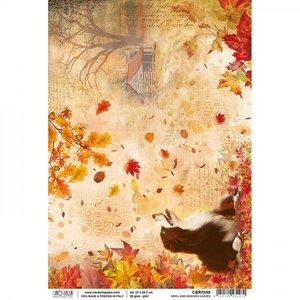 Papel de arroz Ciao Bella A4 Ariel and dancing Leaves