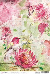 Papel de arroz Ciao Bella A4 Hummingbird