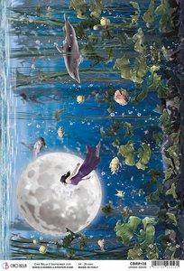 Papel de arroz Ciao Bella A4 Moon & Me Upside Down