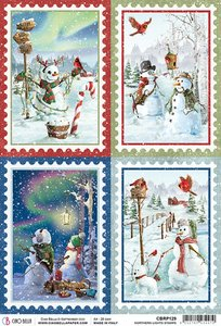 Papel de arroz Ciao Bella A4 Nothern Lights Stamps