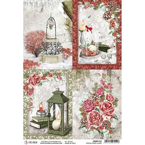 Papel de arroz Ciao Bella A4 Frozen Roses Cards