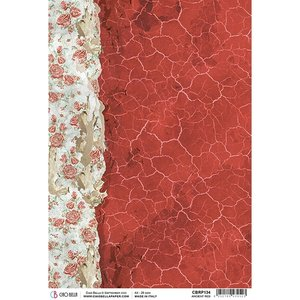 Papel de arroz Ciao Bella A4 Frozen Roses Ancient Red