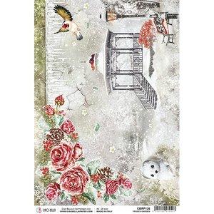 Papel de arroz Ciao Bella A4 Frozen Roses Garden