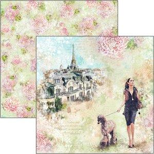 """Papel 12""""x12"""" Ciao Bella Notre Vie Les Rues de Paris"""