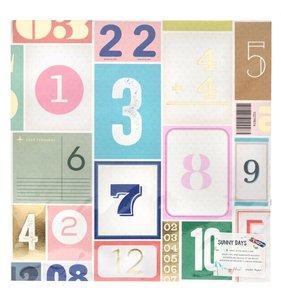 """Papel 12""""x12"""" con foil Lucky"""