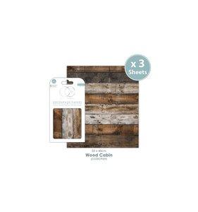 Set Papel Decoupage CC Wood Cabin