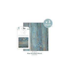 Set Papel Decoupage CC Blue Wood