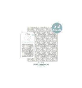 Set Papel Decoupage CC Silver Snowflakes