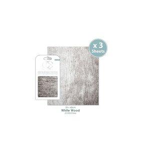 Set Papel Decoupage CC White Wood