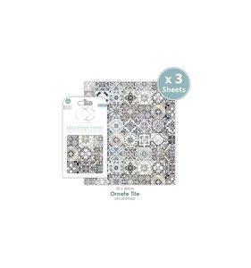 Set Papel Decoupage CC Ornate Tile