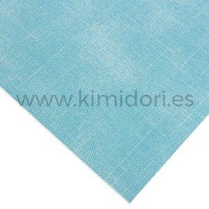 Ecopiel para encuadernar 30x50 cm efecto tela Azul Claro