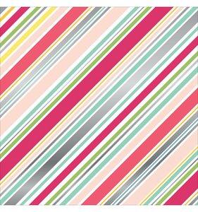Diagonal Stripe Foil Paper