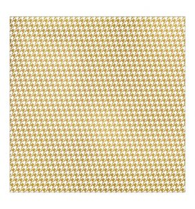 Gold Houndstooth Print
