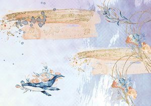 Tela de encuadernar decorada 70x50 cm Sea Breeze