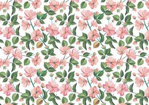 Tela de encuadernar decorada 70x50 cm Floral