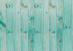 Tela de encuadernar decorada 70x50 cm Madera Turquesa