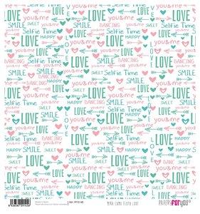 """Papel Arroz 12""""x12"""" Mira Como Floto Love"""