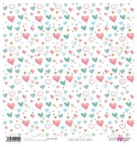 """Papel Arroz 12""""x12"""" Mira Como Floto Hearts"""