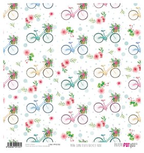 "Papel Arroz 12""x12"" Mira Como Floto Bicycle Ride"