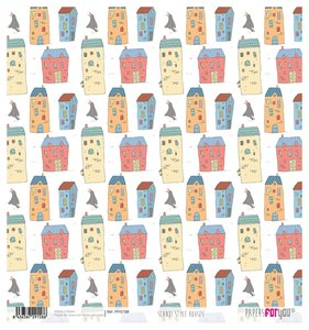 "Papel Arroz 12""x12"" Scandi Style Houses"