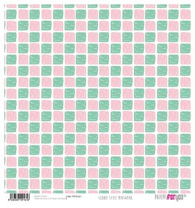 "Papel Arroz 12""x12"" Scandi Style  Mint&Pink"
