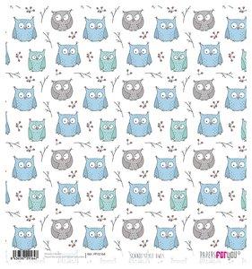 "Papel Arroz 12""x12"" Scandi Style Owls"