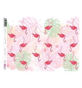 Papel Arroz A4 Flamingo Party