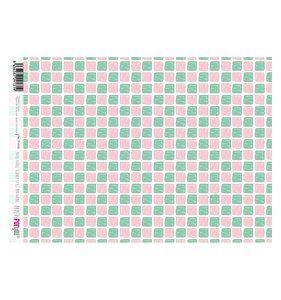 Papel Arroz A4 Scandy Style Mint&Pink