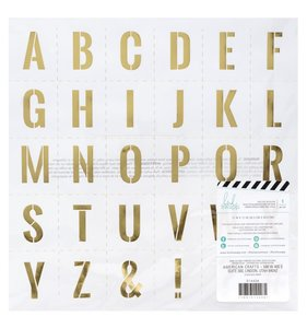 "Vellum 12""x12"" Emerson Lane Gold Alpha"